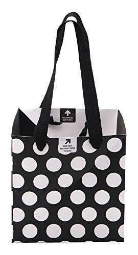 BUILT NY Origami Pinwheel Bag, Small, Big Dot Black & White