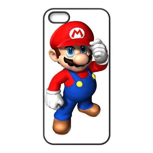 Super Smash Bros Y5R24 Mario K1T3GU coque iPhone 4 4s cellule de cas de téléphone couvercle coque noire DM1NPM4GI