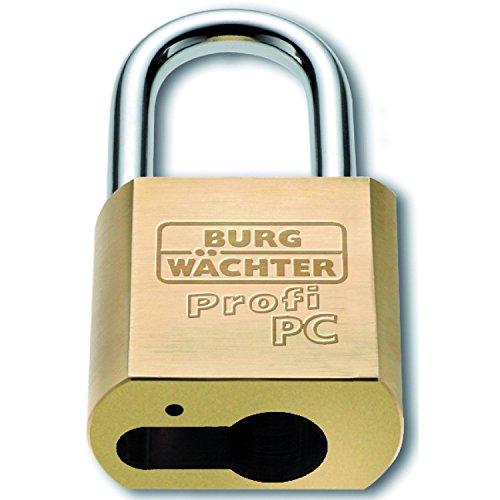 BURG Vorhangschloss 116 Profi PC, für Halbzylinder, Breite 50 mm
