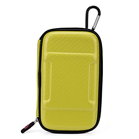 WD My Passport Ultra (500GB, 1TB, 2TB) Universal Portable Travel Case NuVur w/Carabiner Hook [Screamin' Yellow Hard (Passport Ultra 500)