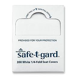 Georgia-Pacific Safe-T-Gard 47047 White 1/4-Fold Toilet Seatcovers, 14.5\