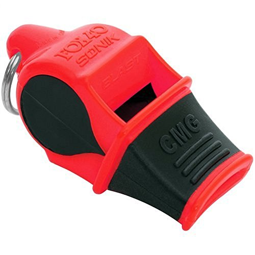 Fox 40 Sonik Blast CMG Marine Whistle with Breakaway Lanyard Red/Black