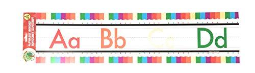Enseñanza Árbol Manuscrito alfabeto frontera, Colored Pencils