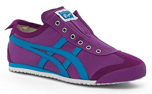Onitsuka Tiger Women's Mexico 66 Slip-on Classic Running Shoe, Hyacinth Violet/Malibu Blue, 10 M US