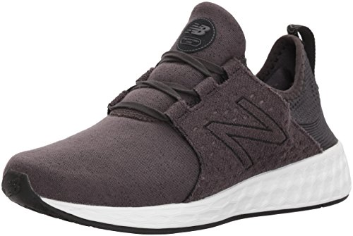 New Balance Women's Fresh Foam Cruz v1 Retro Hoodie Running Shoe, Black/Phantom, 7.5 B US