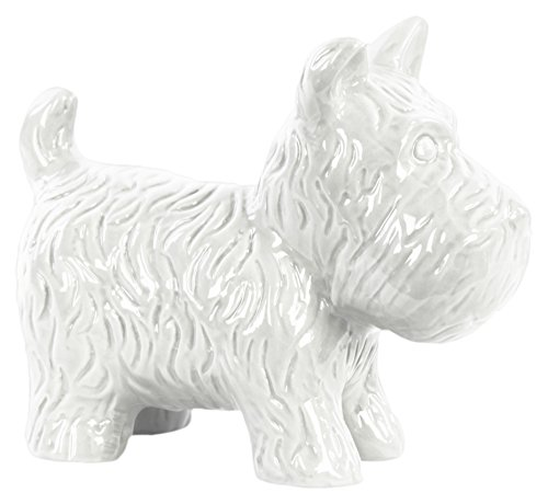 - Urban Trends Ceramic Standing Welsh Terrier Dog Figurine Gloss Finish White