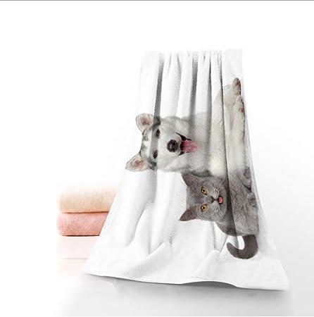 ZFFSC Toallas de baño de Microfibra para Perros y Gatos, Toalla de baño, Viaje, Playa, Toalla de Cara, Personalizada, tamaño 70 x 140 cm: Amazon.es: Hogar