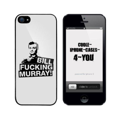 Iphone 5 / 5S Schutzhülle Bill Fucking Murray ! - schwarzer Rahmen