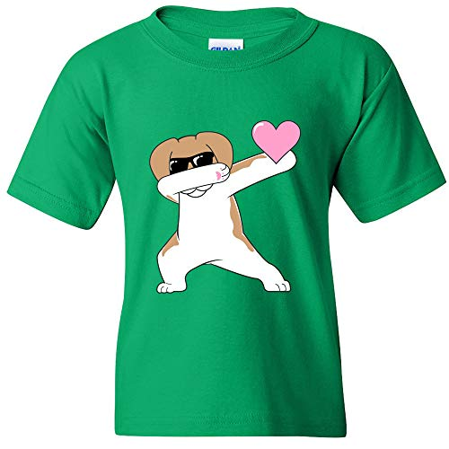 0084d28b UGP Campus Apparel Dabbing Dog with Heart - Dab Dance Dog Valentines Day  Heart Cute Fun