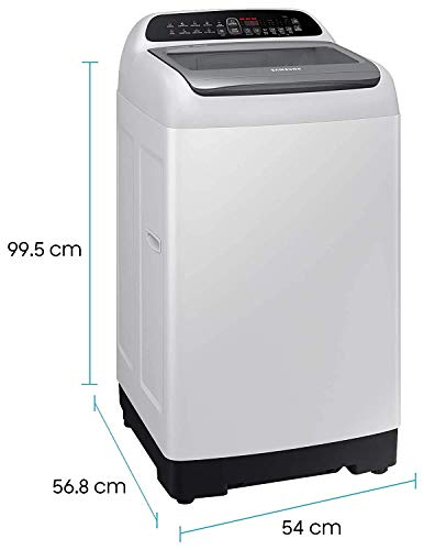 Samsung 6.5 Kg Inverter Fully-Automatic Top Loading Washing Machine (WA65T4262GG/TL, Light Grey,wobble technology) 2021 June Fully-automatic top load washing machine: Affordable with great wash quality, Easy to use Capacity 6.5 Kg: Suitable for families with 3 to 4 members. Frequency : 50Hz Energy Efficient Model comes with 3 star rating