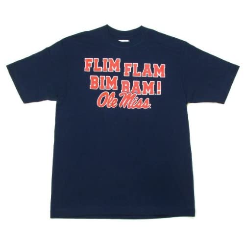 Amazon.com : Ole Miss Rebels Flim Flam Bim Bam Navy T-Shirt : Sports