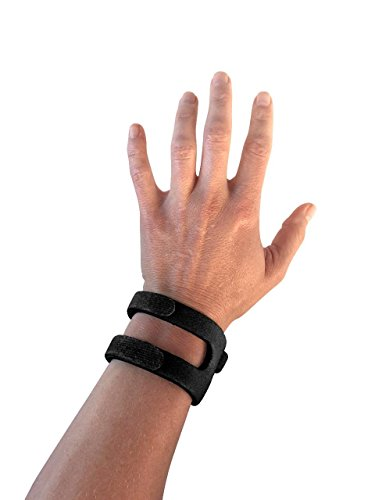 WristWidget (TM) - Patented, Adjustable Wrist Support Band For TFCC Tear- Triangular Fibrocartilage Injuries, Ulnar Sided Wrist Pain, Weight Bearing Strain - Left Or Right Hand - Regular BLACK