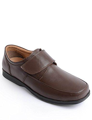 Homme Attacher Faciles Cuir Pour Marron Chaussures En À 1JcTF3lK