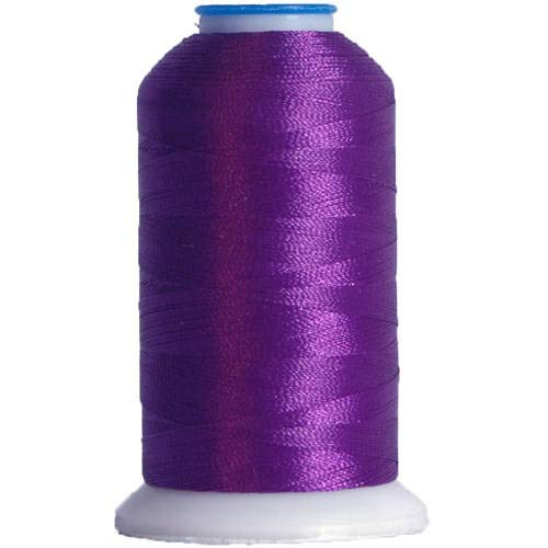 Threadart Polyester Machine Embroidery Thread by The Spool - No. 265 - Royal Purple - 1000M - 220 Colors Available