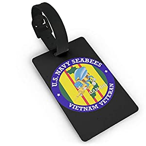 U.S. Navy Seabees Vietnam Veteran PVC Travel Baggage ID Tags