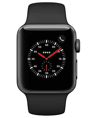 Apple Watch Series 3 38mm Smartwatch (GPS + Cellular, Space Gray Aluminum Case, Black Sport Band) (Certified Refurbished)