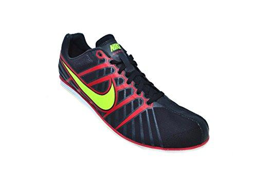 Nike Mens In Konkurrerande D 6 Svart / Volt Komet / Röd Löpande Spikar Skor Oss 9