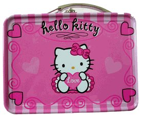 Pink Hello Kitty Mini Size Tin Box - Miniature Tin Box