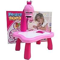 CNmuca Mesa de Aprendizagem Infantil com Projetor Inteligente Crianças Pintando Mesa Brinquedo com Luz para Crianças…