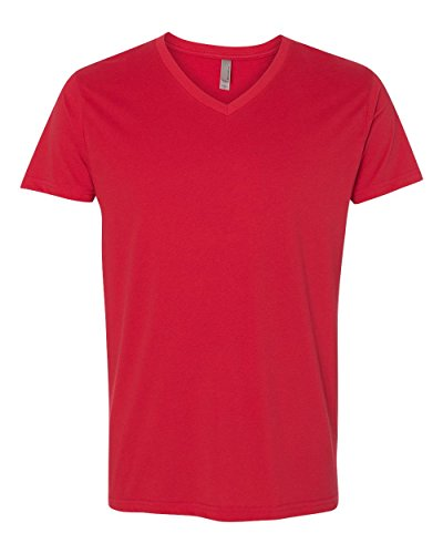 Next Level Apparel 6440 Mens Premium Fitted Sueded V-Neck Tee - Red, ()