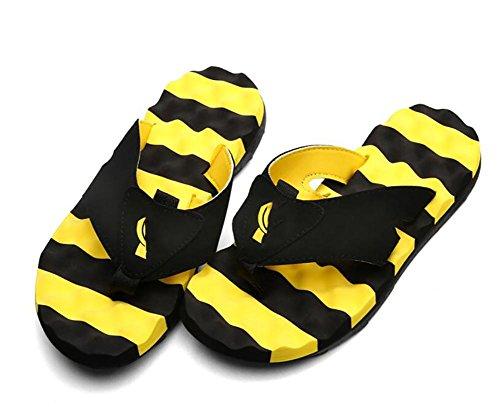 Zapatillas de verano pantalones hombres fresco marea hombres antideslizante personalidad playa parejas al aire libre chancletas Yellow