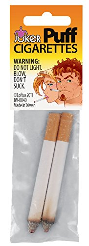 Loftus Joker Fake Puff Cigarettes (2 Pack), White/Orange -