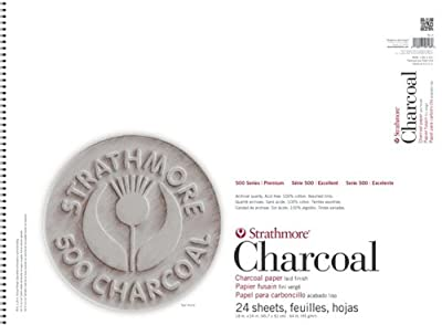 Strathmore Assorted Color Charcoal Paper Pad 18X24-64lb 24 Sheets