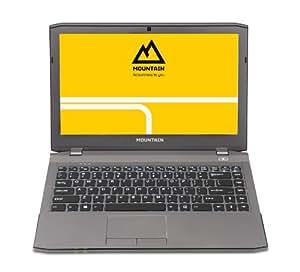 "Mountain Graphite 20 Pro - Portátil de 13.3"" (Intel Core i7- 4710MQ, 16 GB de RAM, Disco Híbrido de 750 GB + 128 GB SSD, NVIDIA GTX 860M con 2 GB, FreeDOS), gris"
