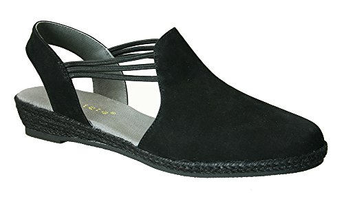 (David Tate Women's Nelly Slingback,Black Nubuck,US 11 M)