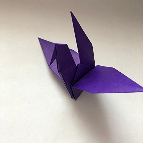 Lot of 20 Handmade Purple Origami Cranes (6x6 paper) 100% of Proceeds Donated to the American Cancer Society Relay for Life - Great for decorations and gifts