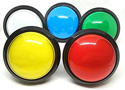 60mm illuminated LED Arcade game Push Button with micro-switch for MAME