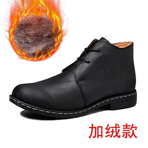 LOVDRAM Stiefel Männer Winter Verdickung Plus Baumwolle XL Hohe Männer Schuhe Im Freien Schnee Stiefel Kurze Stiefel Lässige Mode Männer Schuhe Wild