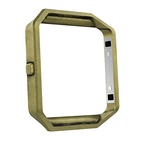 MoKo Fitbit Blaze Band Frame , Stainless Steel Replacement Metal Frame Housing For Fitbit Blaze Smart Watch - Anti Brass by MoKo