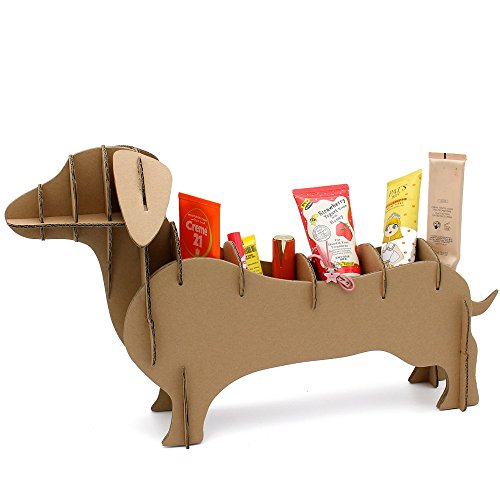 ADORABLE Dachshund Doggie Desk Organizer!   I needed help assembling it, but once it's set up it looks very cute!
