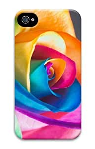Colorful Rose PC Case for iphone 4S/4