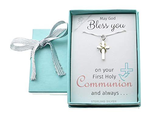 Little girl's First Communion necklace on 14