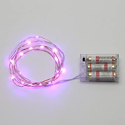AVAWO LED Christmas Lights String - Purple 7ft 20leds LED Lights Fairy lights Ultra Thin String Copper Wire LED Light Strings AA Battery Powered For Christmas Wedding and Party, indoors