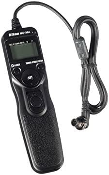 Nikon MC-36A Multi-Function Remote Shutter Release Cord for D4, D800, D700, D300, Black (VDR00801)