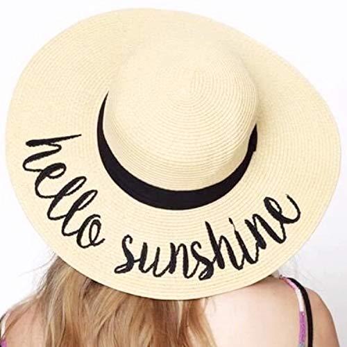 Womens Big Bowknot Straw Hat Floppy Foldable Roll up Beach Cap Sun Hat UPF 50+ Beach Sun Floppy Hat