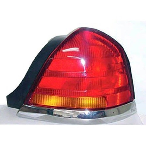 (Go-Parts ª OE Replacement for 1998-2005 Ford Crown Victoria Rear Tail Light Lamp Assembly/Lens/Cover - Right (Passenger) Side - (Base Model + LX + Police Interceptor + S + Special Edition)