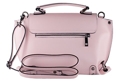 Vera BORDERLINE da Donna 100 in in Made Rosa EMMA Borsa Pelle Italy 44Xrq8