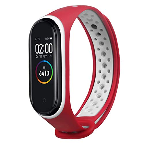 (Sodoop Watchband for Xiaomi Mi Band 4, Soft Sport TPE Silicone Waterproof Breathable Replacement Wristband Straps Bracelet for Xiaomi Mi Band 4 New Fitness Tracker)