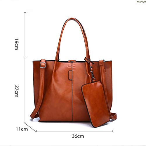 Brown Handbag 36cm11cm27cm 2PC Gray Shoulder Set Women Bag xa7xfBw0Cq