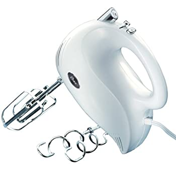 Oster 5-Speed White Hand Mixer