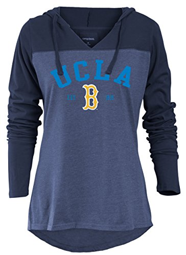 NCAA UCLA Bruins Women's Color Block Long Sleeve Hoodie, X-Large, Marine (Ncaa Bruins Drawstring Ucla)