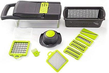 Coupe-Oignon Trancheuse Coupe-Oignons Verts Multifonctionnel D/échiqueteuse D/échiqueteuse de L/égumes Outil de Gadget de Cuisine Coupe L/égumes en Acier Inoxydable