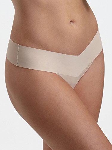 Hanky Panky Bare Eve Natural Rise Thong, Taupe, (Hanky Panky Mid Rise)