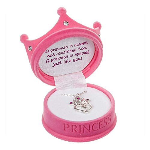 - DM Merchandising - Petite Princess Crown Necklace in Figural Gift Box (1 Pack of Pink)