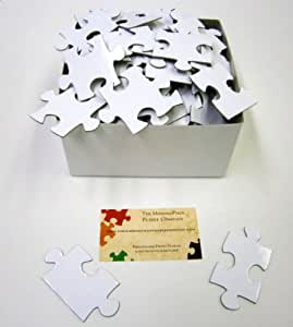 63 Piece Numbered White Wedding Guest Book Puzzle Extra Large pieces 16x20 Puzzle Completed size