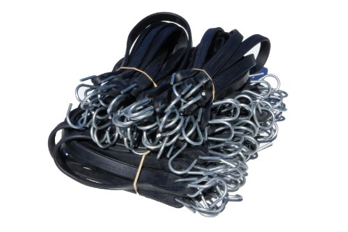 Harriscos LLC Natural Rubber Tarp Straps Snubber Bungee Cords w/Hooks (50 Mix Pack)